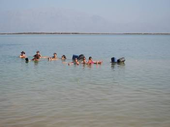 Dead Sea floating!
