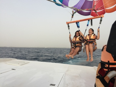 Parasailing away in Eilat!
