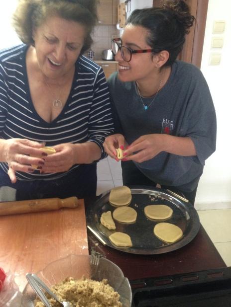 Baking oznei haman with my grandma