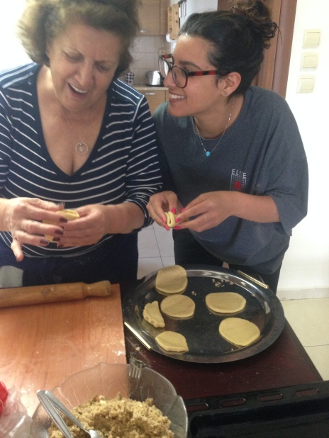 Baking oznei haman with my grandma