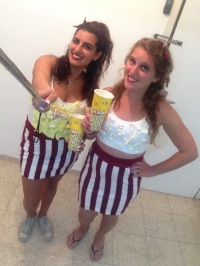dressed up as popcorn for purim